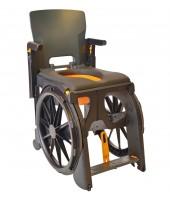 M2 Bade/toiletstol med drivhjul, inkl. PU skum på armlæn